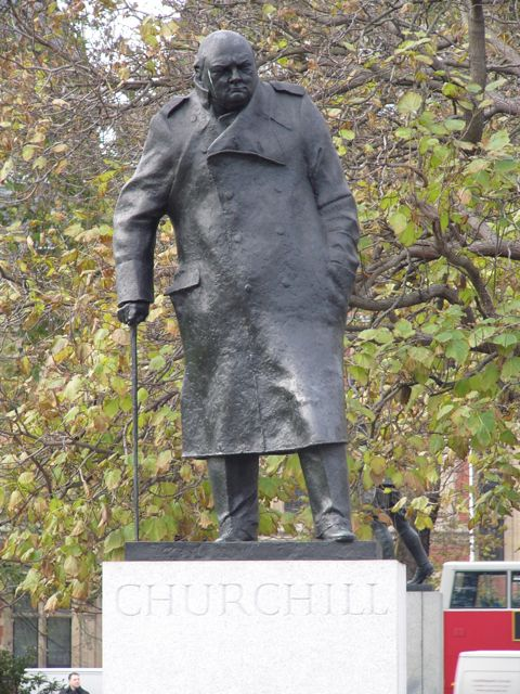 Churchill's statue in Parliament Square