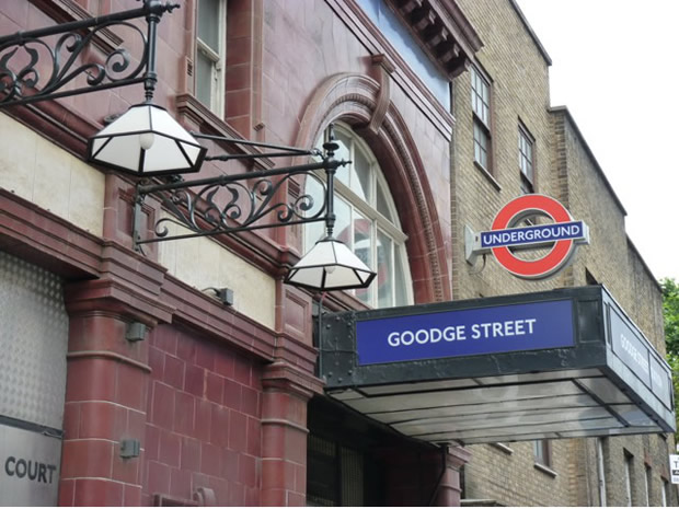 Goodge Street tube station, London